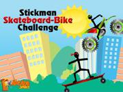 Stickman Skateboard-Bike Challenge
